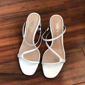 Zara white strap Sandals size 36